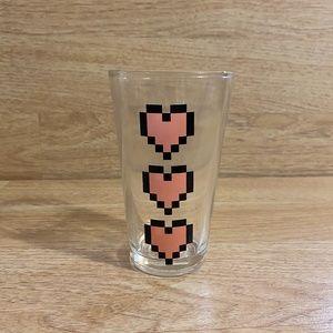 Think Geek Power-Up Heart Pint Glass
